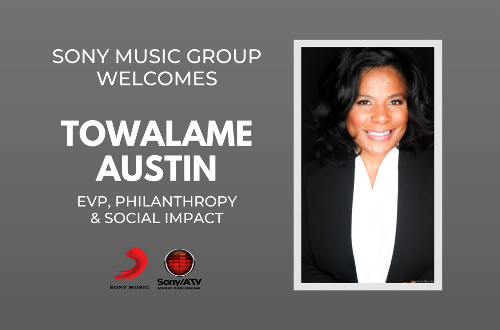 Sony Music Group Names Towalame Austin EVP, Philanthropy And Social Impact