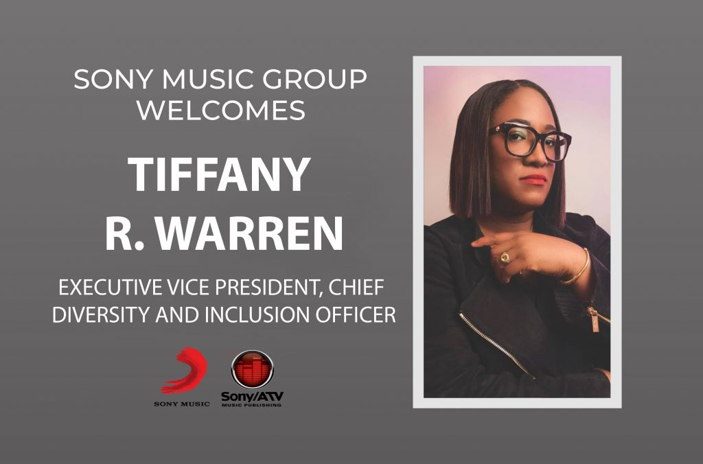 Sony Music Group Appoints Tiffany R. Warren Executive Vice President, Chief Diversity and Inclusion Officer