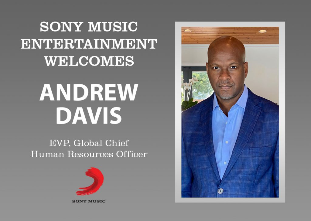 Sony Music Entertainment Appoints Andrew Davis Executive Vice President and Global Chief Human Resources Officer