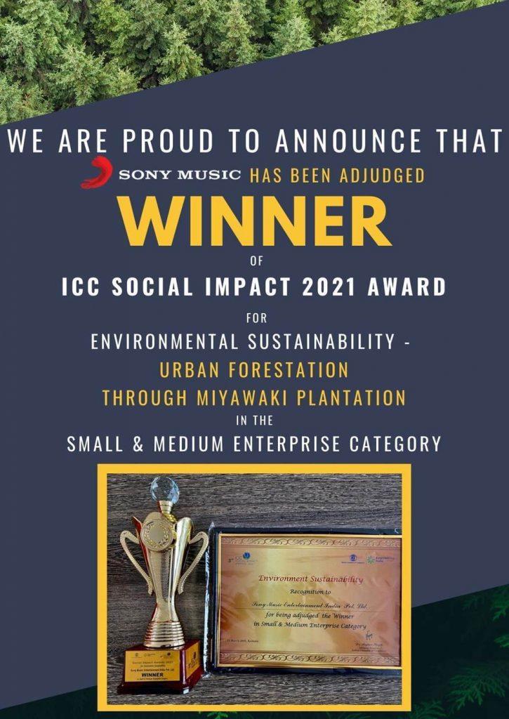 Sony Music India Receives ICC Social Impact 2021 Award
