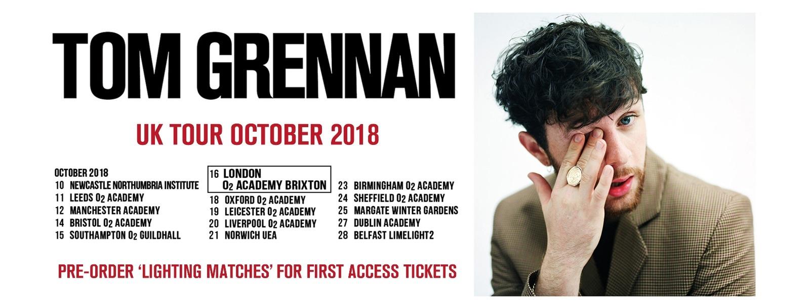 Tom Grennan announces October 2018 Tour!