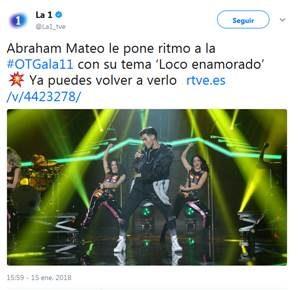 """Abraham Mateo arrasa con su actuación en """"Operación Triunfo"""""""