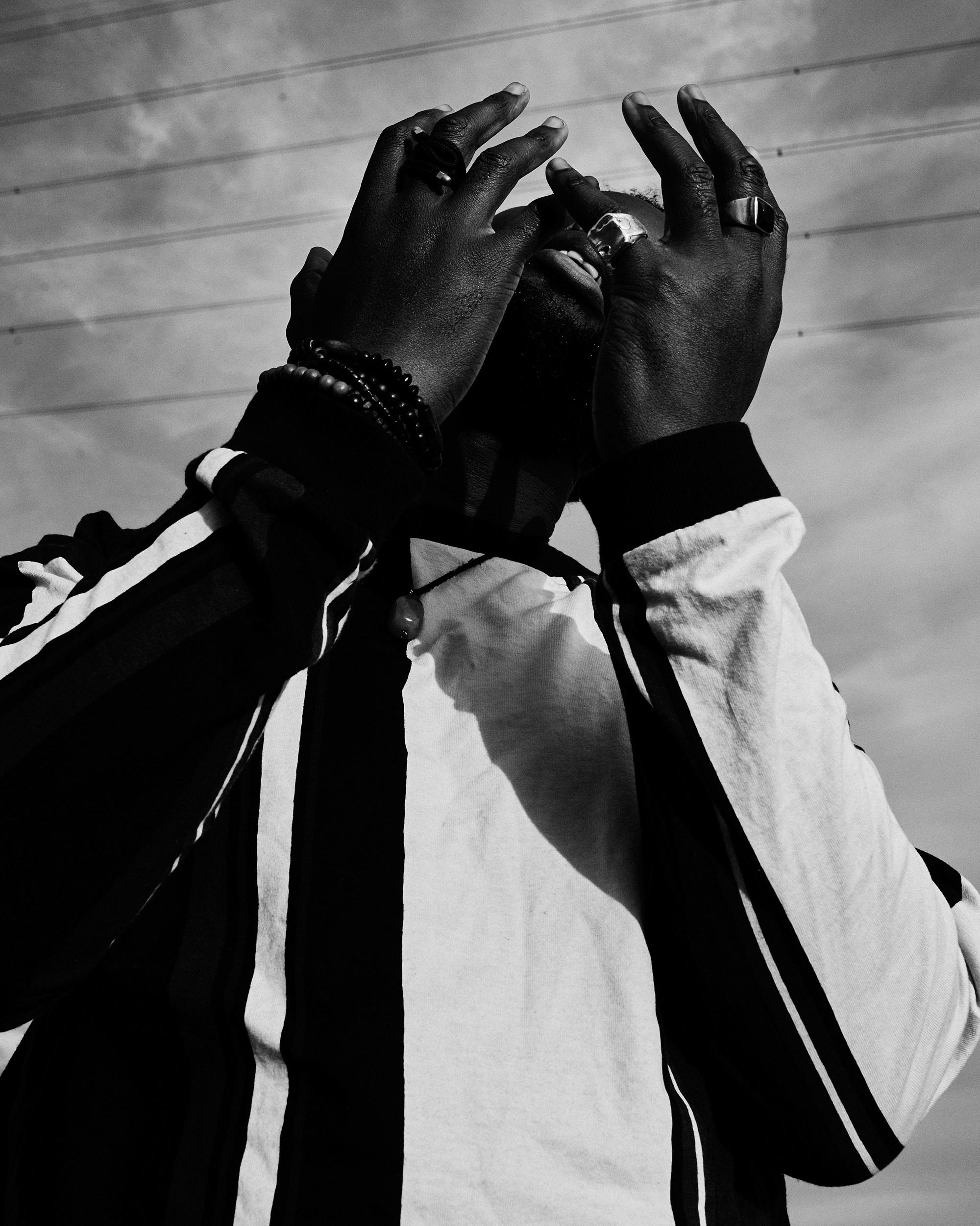 Jnr Williams, black & white image