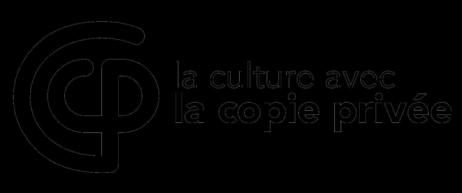 logo la culture avec la copie privée noir