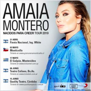 Amaia Montero visita varios países latinoamericanos de gira con su Nacidos Para Creer Tour 2019