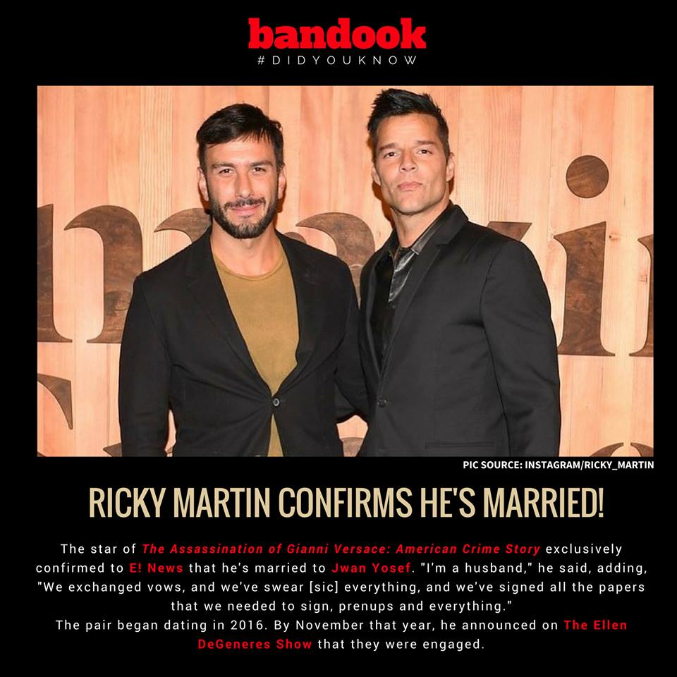 #DidYouKnow: Ricky Martin is married! - Bandook