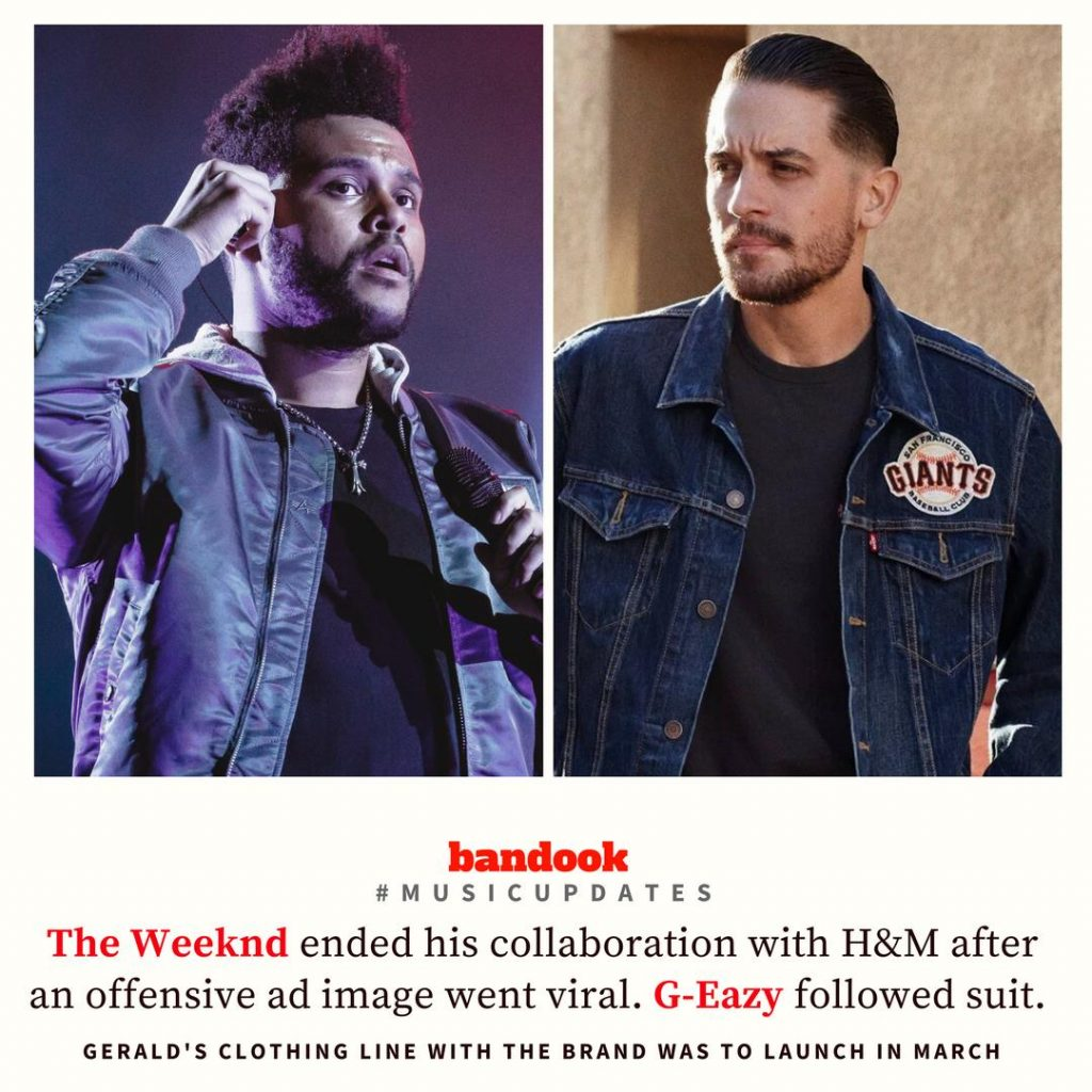 After The Weeknd, G-Eazy severs ties with H&M - Bandook