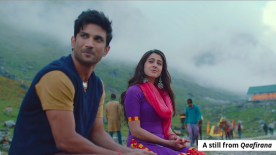 Kedarnath's 'Qaafirana' is a refreshingly told tale of forbidden love, voiced by Arijit Singh and Nikhita Gandhi