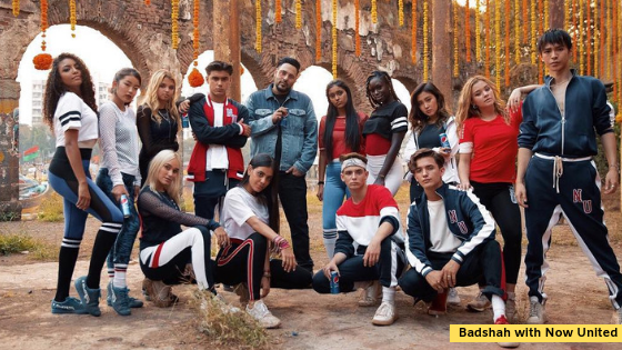 Badshah, Now United, music video