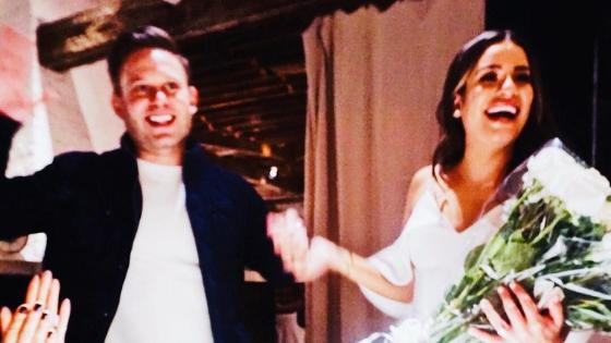 Glee's Lea Michele is married!