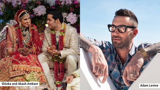 Maroon 5 performed at the Akash-Shloka Wedding Reception