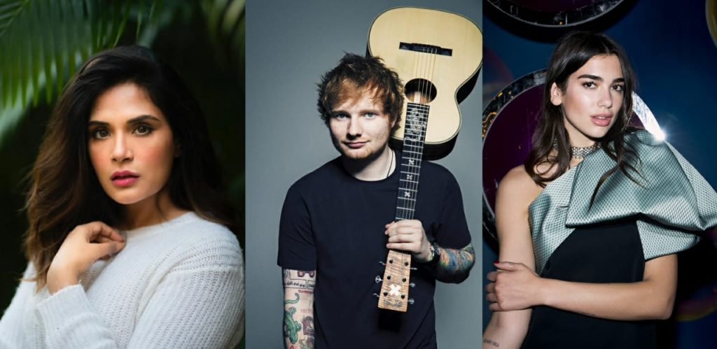 Ed Sheeran, Dua Lipa and other music icons have THIS actress for company