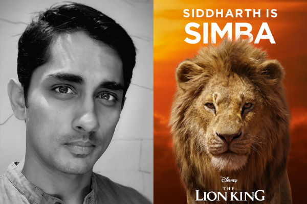 Siddharth plays Simba in the Tamil version of The Lion King