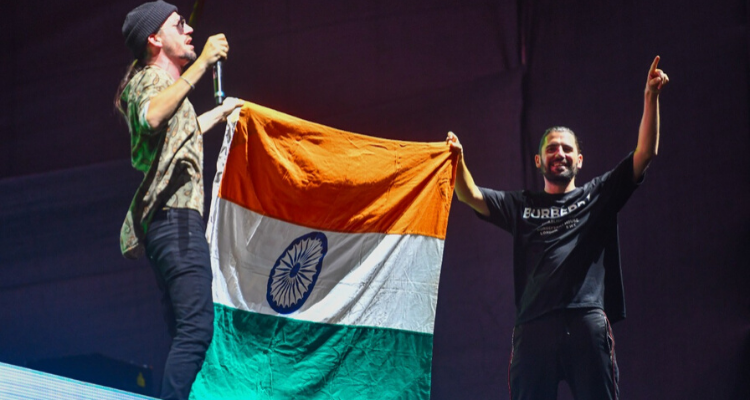 This Indian actress chilled with Dimitri Vegas and Like Mike backstage