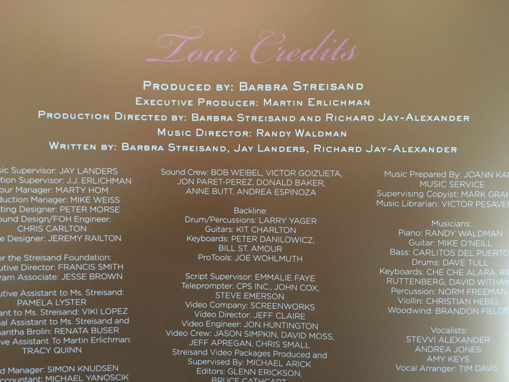 tour credits