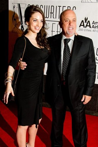 Billy Joel and Alexa Ray Joel at Songwriters Hall of Fame