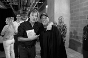 Sir Paul McCartney and Billy Joel backstage at Yankee Stadium