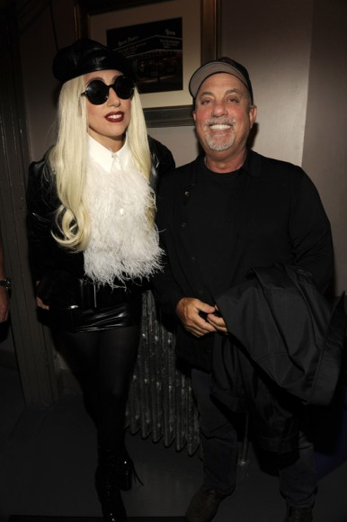 Billy Joel and Lady Gaga at Sting's birthday celebration