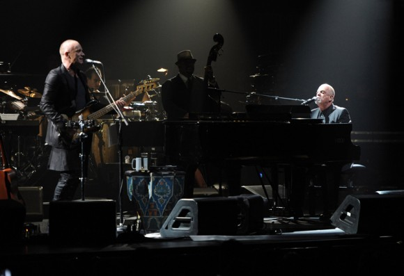 Sting and Billy Joel at Sting's birthday celebration