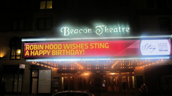 Sting's birthday celebration at the Beacon Theatre