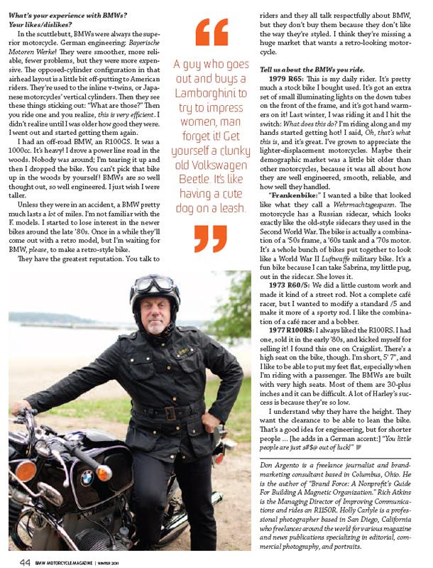 Billy Joel - BMW Motorcycle Magazine
