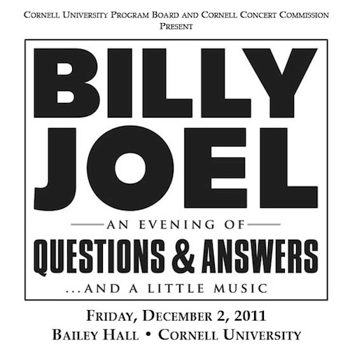 Billy Joel Q&A at Cornell University