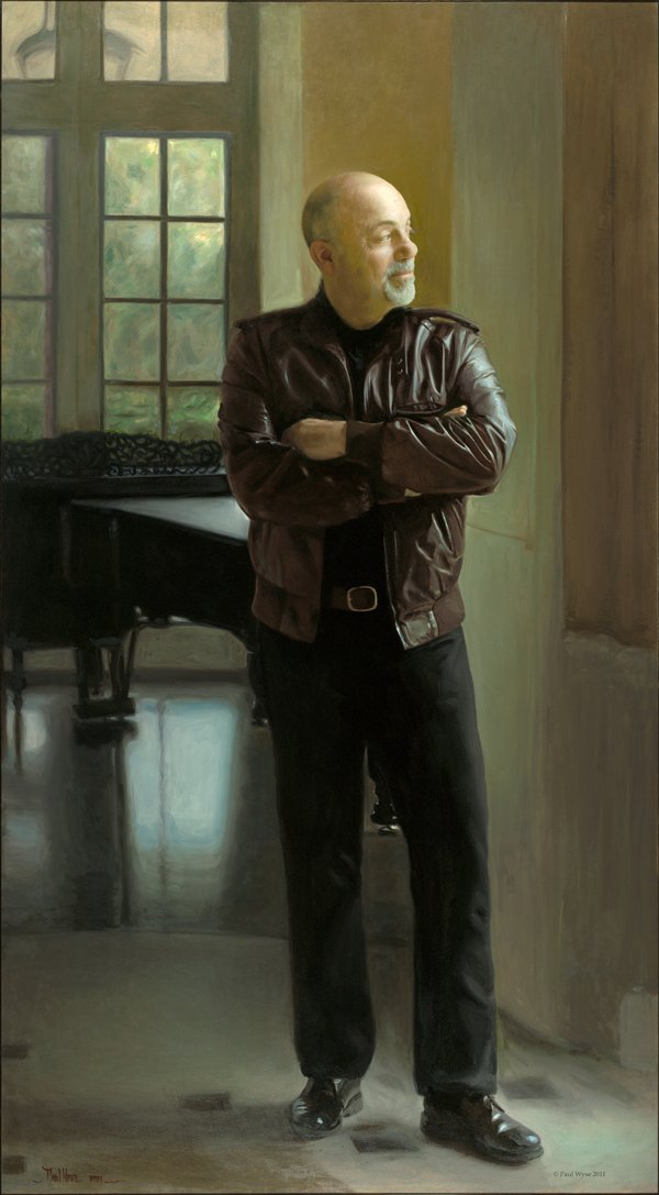 Billy Joel portrait at Steinway Hall