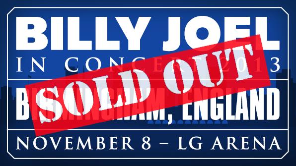 Billy Joel at Birmingham LG Arena