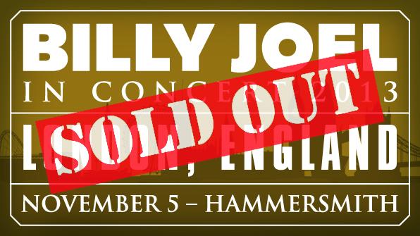 Billy Joel at London Hammersmith Apollo