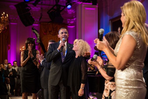President Barack Obama, First Lady Michelle Obama and others honor Carole King