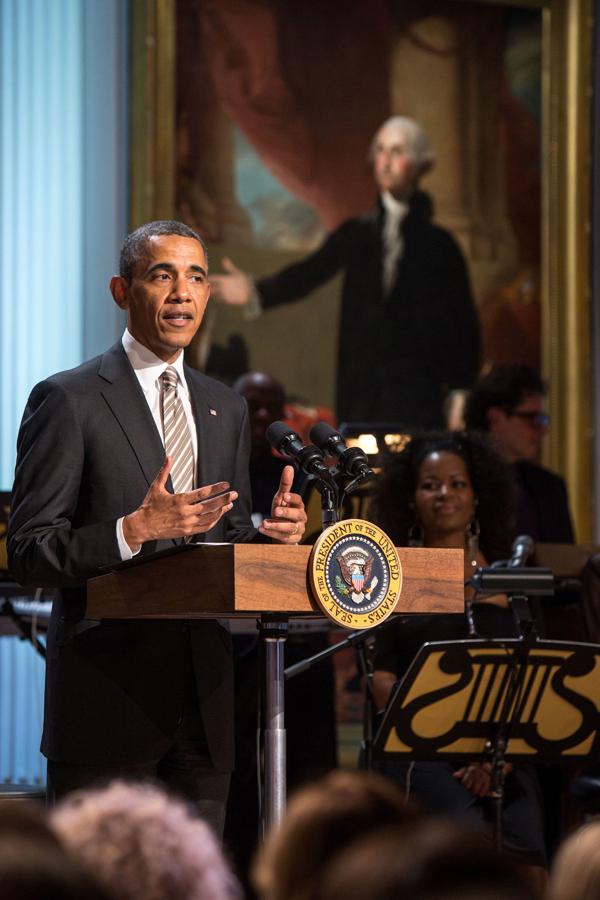 President Barack Obama honors Carole King