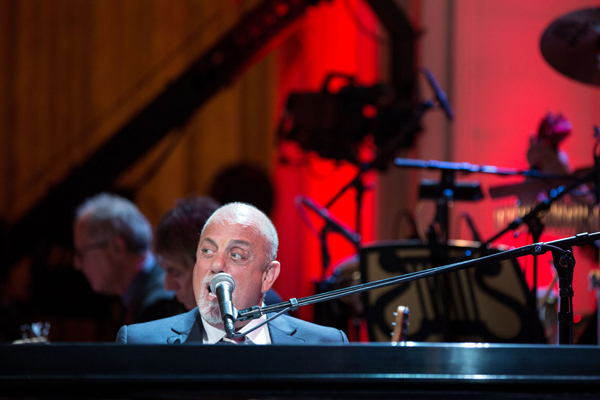 Billy Joel performs in honor of Carole king