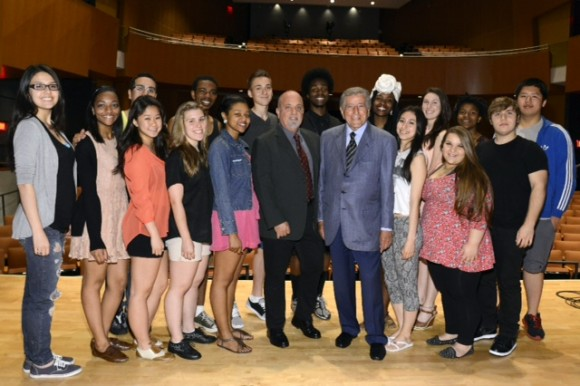 Billy Joel, Tony Bennett and students