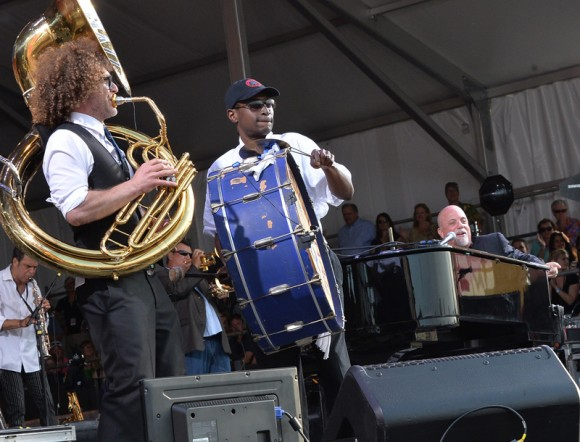 Billy Joel and Preservation Hall Jazz Band at Jazz Fest 2013