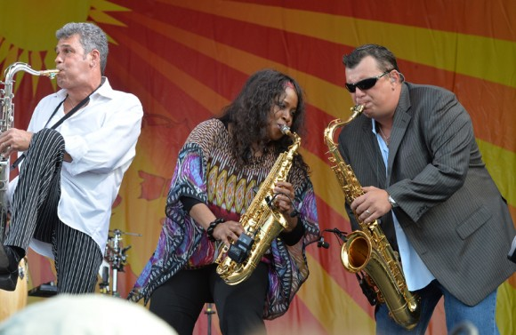 Billy Joel band members at Jazz Fest 2013