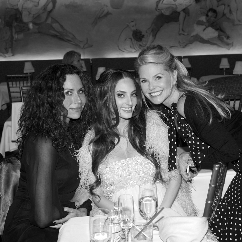Minnie Driver, Alexa Ray Joel and Christie Brinkley at Cafe Carlyle