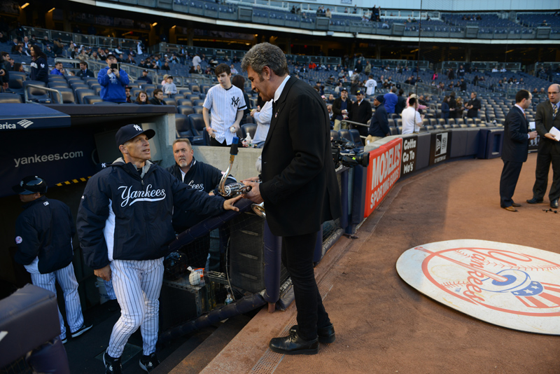 Mark Rivera and Yankees manager Joe Girardi