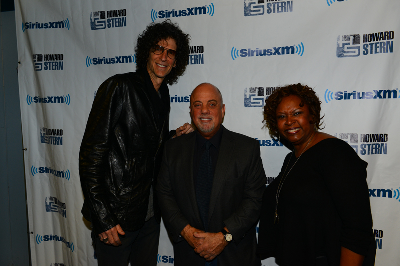 Billy Joel, Howard Stern and Robin Quivers