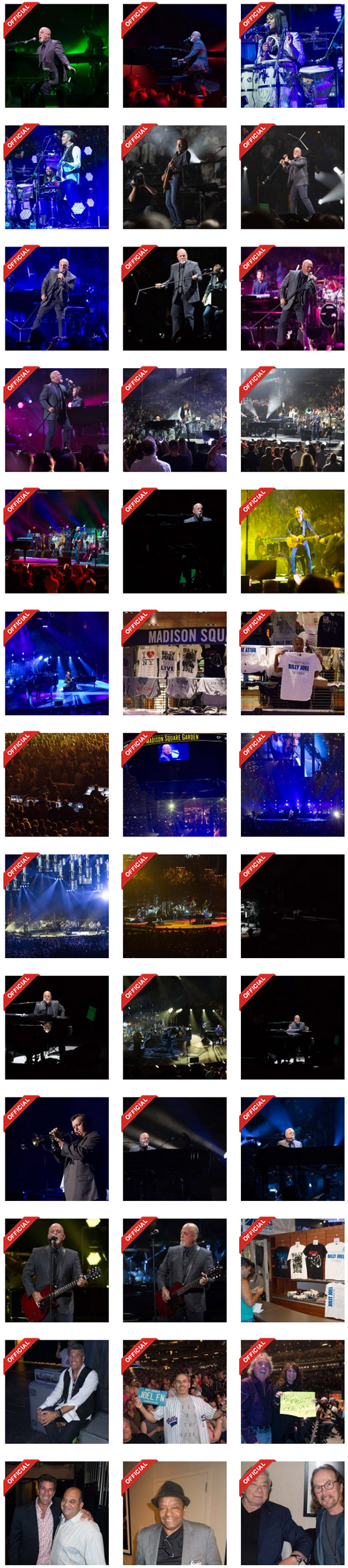 Billy Joel at Madison Square Garden June 21, 2014 photo thumbnails
