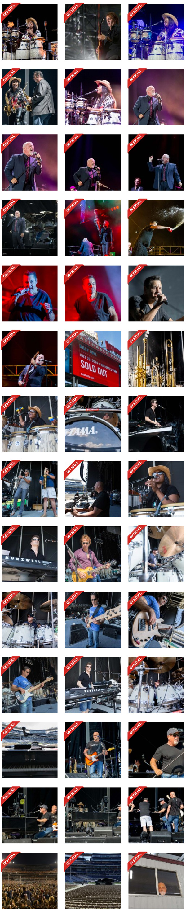 Billy Joel concert photos at Nationals Park in Washington, D.C., on July 26, 2014