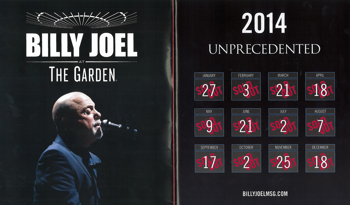 Billy Joel MSG Wrigley Ads In Billboard Magazine Billy Joel