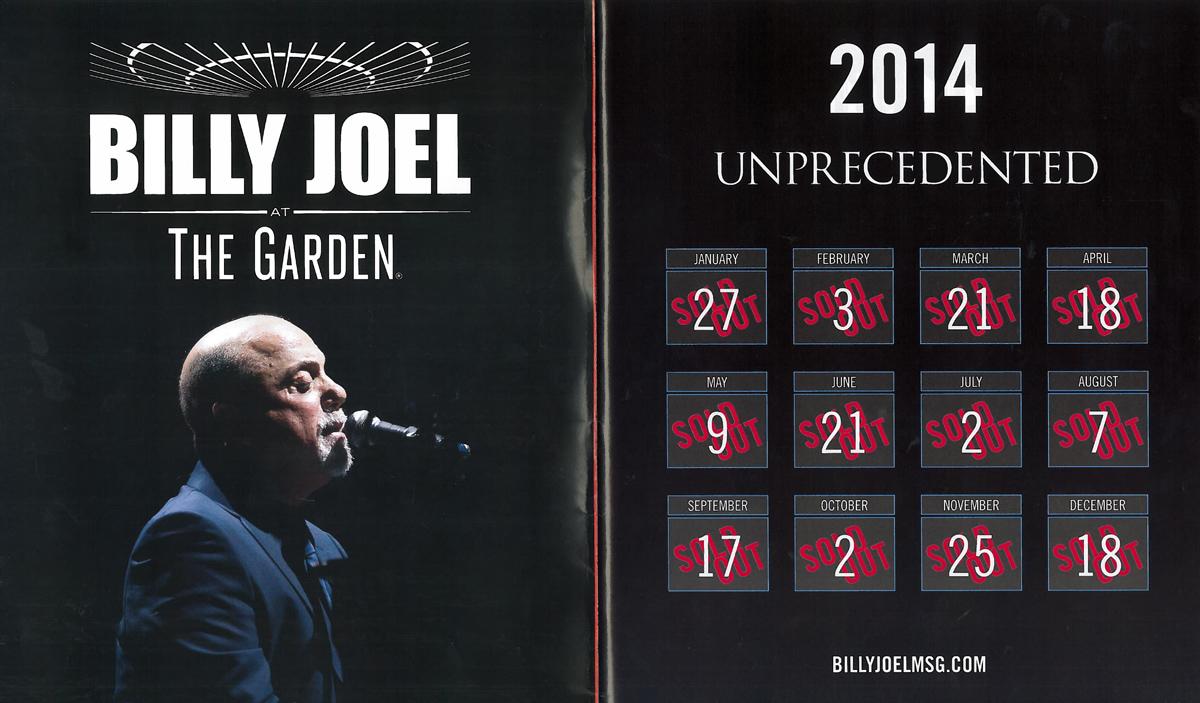 Billy Joel At The Garden - 2014 Unprecedented