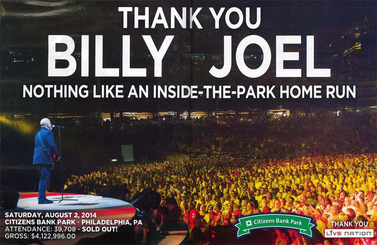 Billy Joel Citizens Bank Park ad