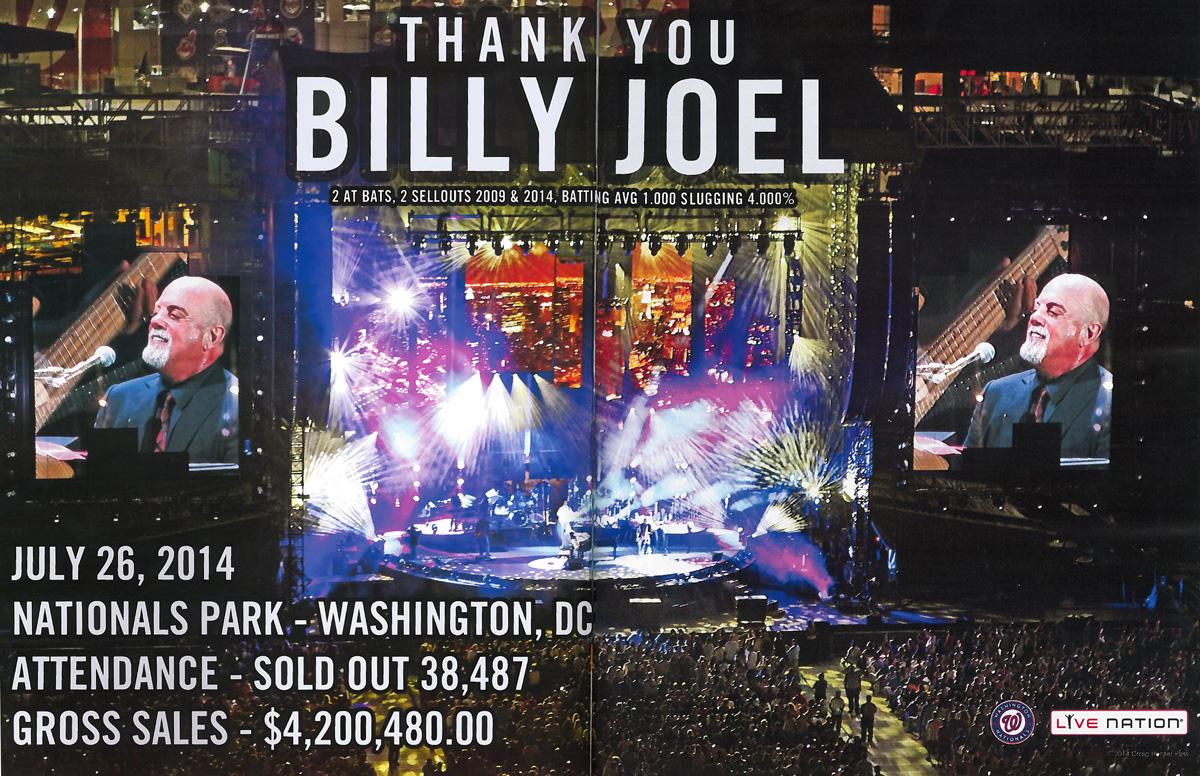 Billy Joel Nationals Park ad