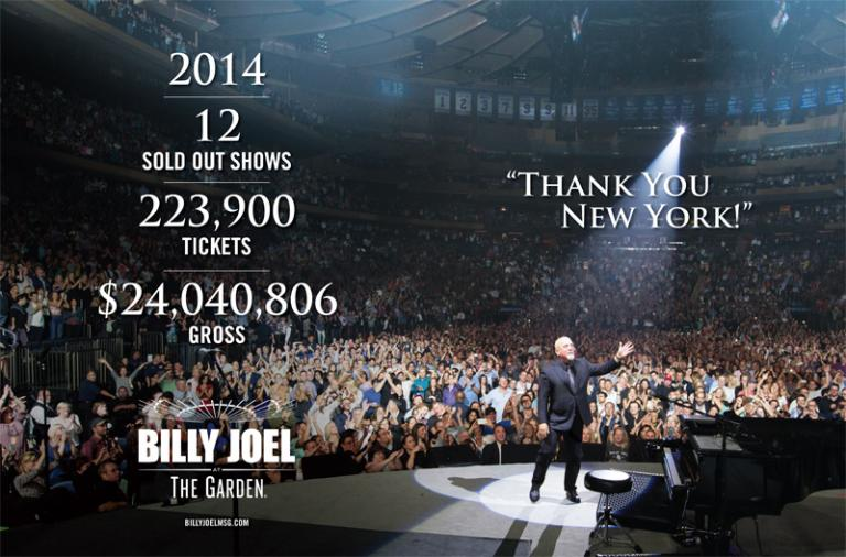 Twelve Sold Out Shows At MSG In 2014 - Thank You New York!