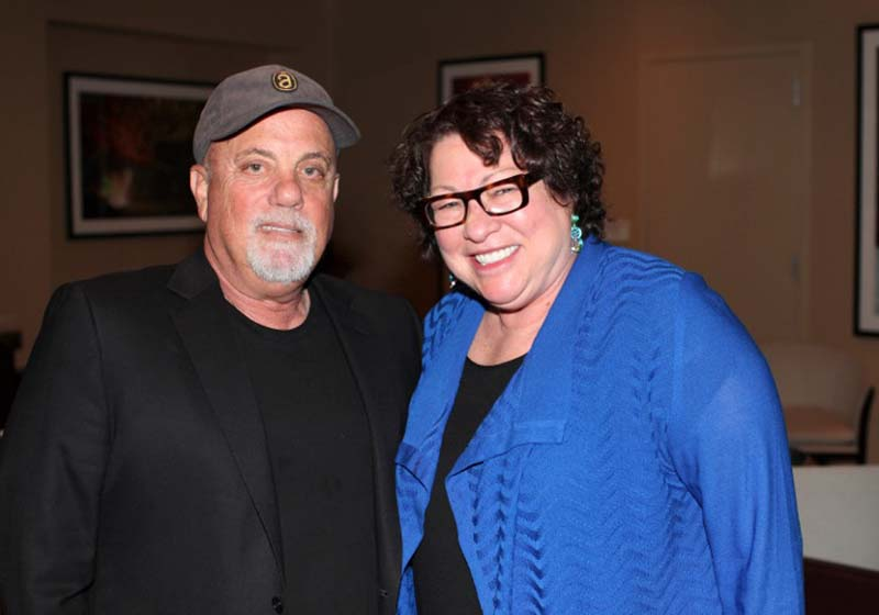 Billy Joel, Supreme Court Justice Sonia Sotomayor Madison Square Garden New York, NY May 28, 2015