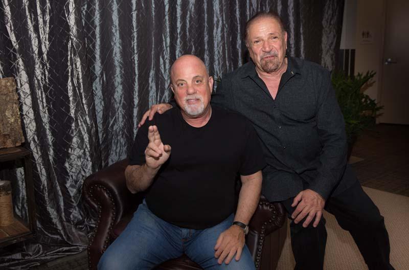 Billy Joel, Felix Cavaliere backstage Madison Square Garden New York, NY May 28, 2015