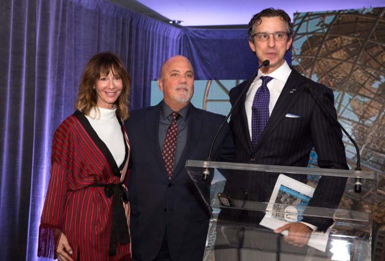Billy Joel, Jody Gerson, David Israelite at National Music Publishers' Association annual meeting Marriott Marquis in New York, NY, on June 17, 2015