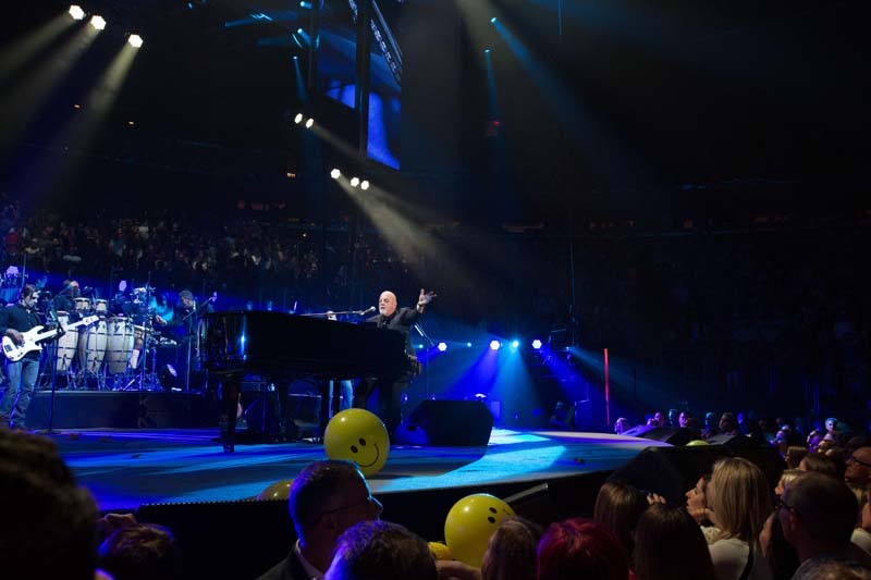Billy Joel, Andy Cichon, Crystal Taliefero, Mark Rivera at Madison Square Garden in New York, NY, on June 20, 2015