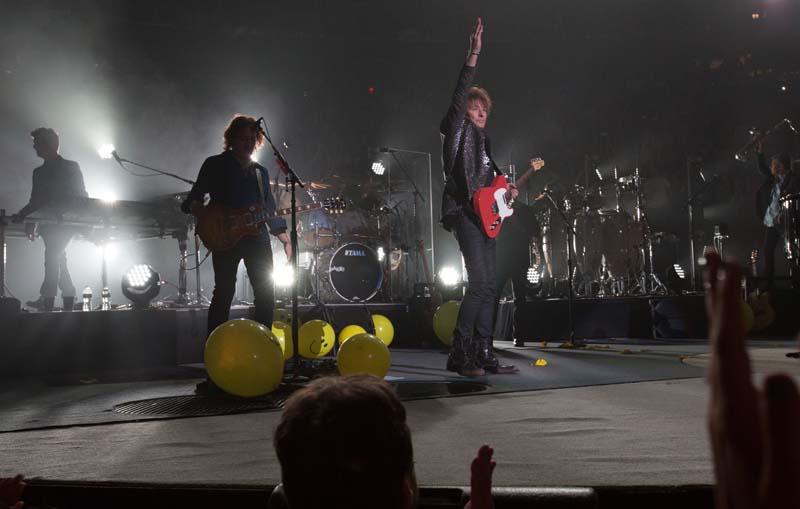 Richie Sambora at Billy Joel concert at Madison Square Garden in New York, NY, on June 20, 2015